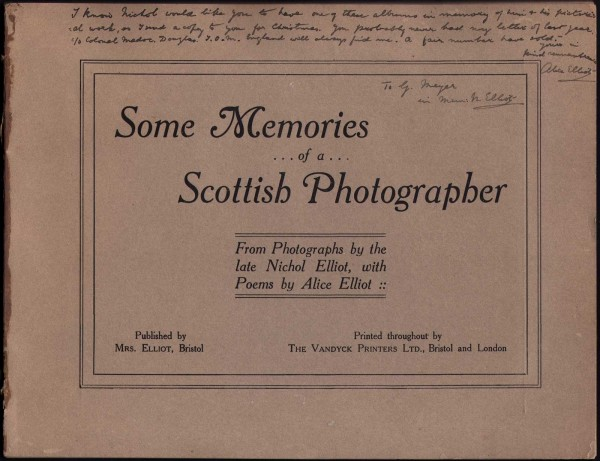 Title Page: Some Memories of a Scottish Photographer